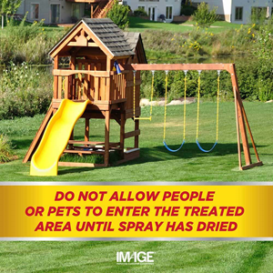 Do not allow people or pets to enter the treated area until spray has dried